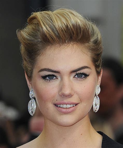 Kate Upton Straight Formal Updo Hairstyle   Dark Blonde
