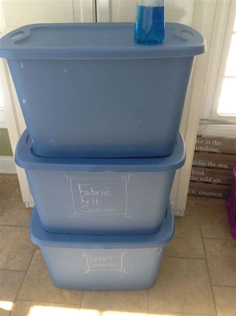 hometalk label your storage tubs with chalk markers