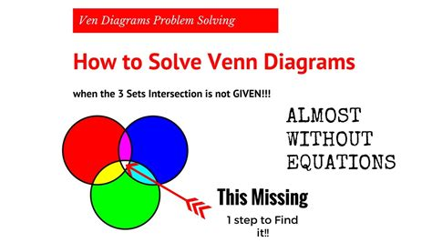 how to solve 3 set venn diagrams venn diagram easy ven diagram solving when the 3