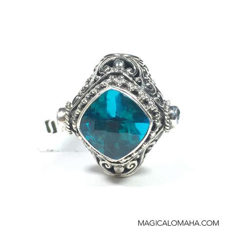 size 9 sterling silver 3 blue topaz ring by sarda