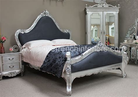 silver beds catherine french bed in silver leaf