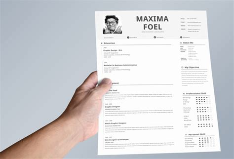 resume layout design behance single page resume template on behance