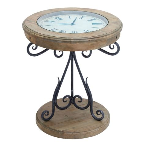 gorgeous clock coffee table on cortes exposed wood