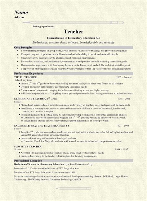 Exle Of Teachers Resume by Best 25 Resumes Ideas On Teaching Resume Teaching Portfolio And