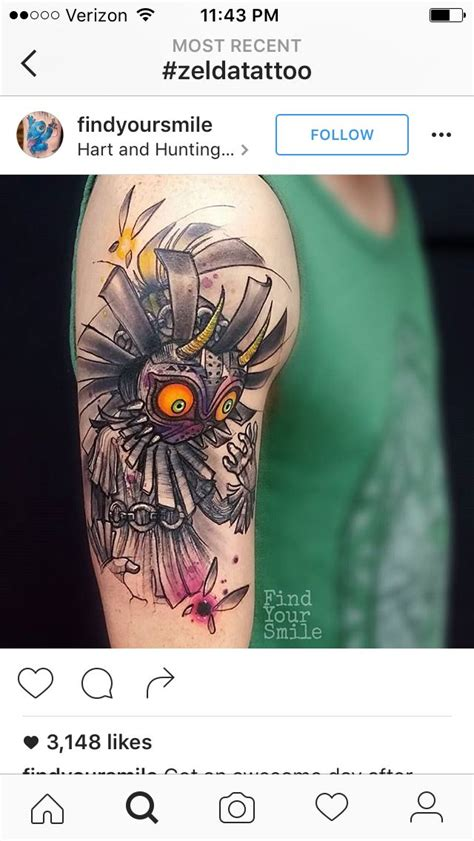 majora s mask tattoo best 25 ideas on