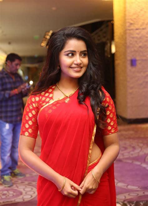 hot photos with saree anupama parameswaran hot in red saree latest photos hd