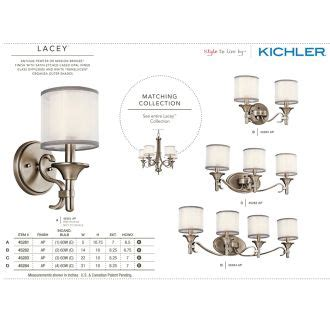 shop kichler lacey 6 in antique pewter hardwired mini kichler 45281ap antique pewter lacey single light 11 quot tall