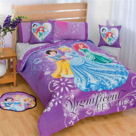 Beautiful Purple Disney Princess Frozen Bedding Set For Princess Bedding Set