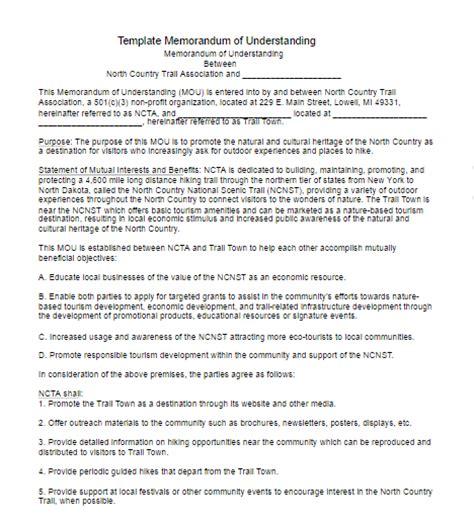 memorandum of understanding template free word templates