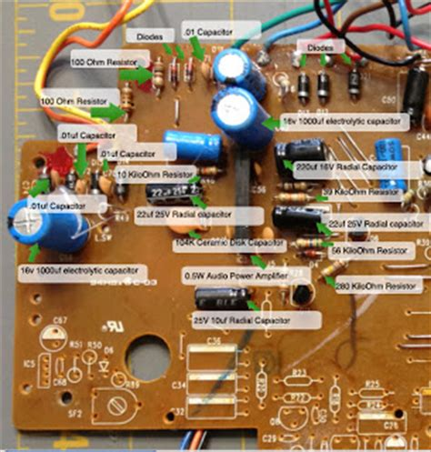 circuit board parts sensor based electronic circuit board label project