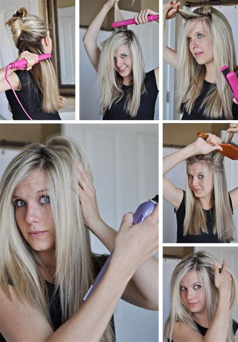 home tricks to make the hair straight from top and curly from bottom 17 useful tricks for anyone who has a hair straightener