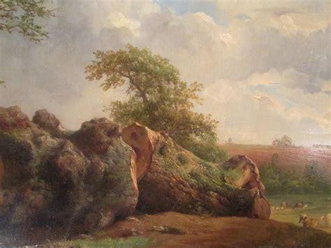 Photo Cadre 1852 by Grand Tableau Huile Sur Bois Brascassat 1852 Xixeme Ecole