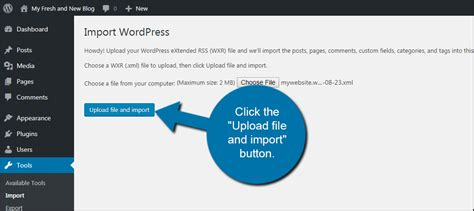 wordpress tutorial upload file how to transfer your wordpress content from one blog to