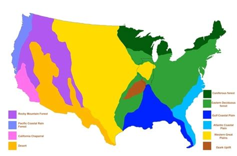 biomes of the united states map what are some biomes in us quora