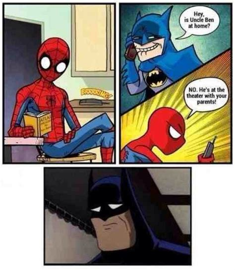 Spiderman Cartoon Meme - spiderman vs bathman cartoon jokes memes pictures