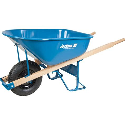 jackson 6 cu ft steel wheelbarrow m6kbut12 the home depot