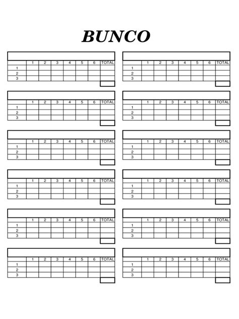 bunco score sheets template bunco score sheet 6 free templates in pdf word excel