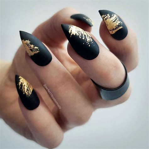 Matte Pointy Nail Designs fantastic ideas for your pointy nails naildesignsjournal