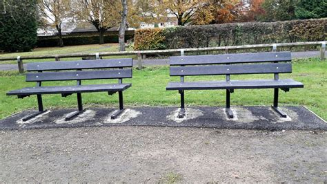 plastic benches uk before and after heptonstall park benches british
