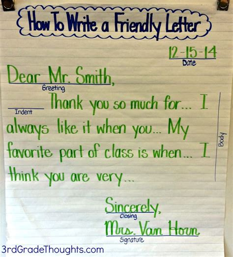 thank you letter to 2nd grade best 25 friendly letter ideas on letter