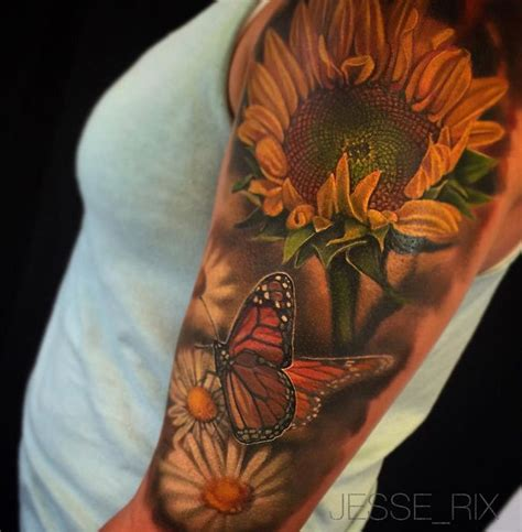 butterfly and sunflower tattoo designs 25 best ideas about sunflower tattoos on