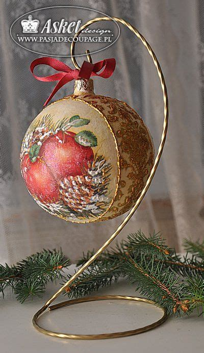 Decoupage Glass Ornaments - decoupage glass ornaments and