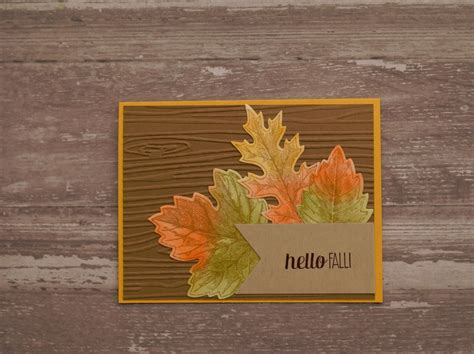 handmade fall cards creatively