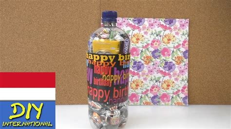 tutorial membungkus kado dalam bahasa inggris membungkus kado ulang tahun dengan botol kreasi youtube