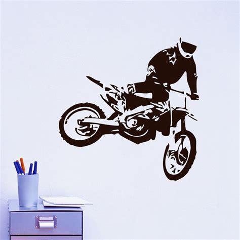 motorbike wall stickers vinyl wall decals motocross motorcycle moto bike