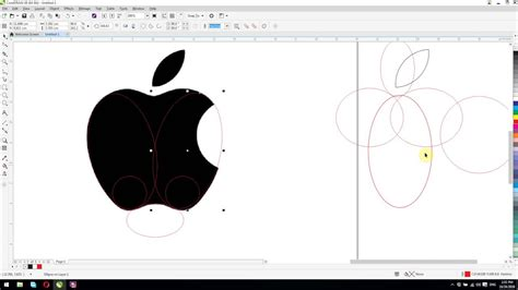 coreldraw tutorial for beginners coreldraw x8 tutorials for beginners redraw apple logo