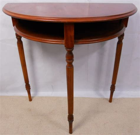 Yew Side Table Yew Bowfront Console Side Table