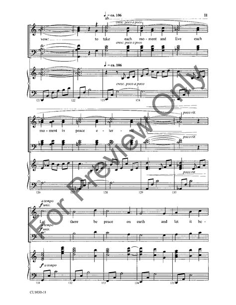 printable lyrics to let there be peace on earth let there be peace on earth satb by craig j w pepper