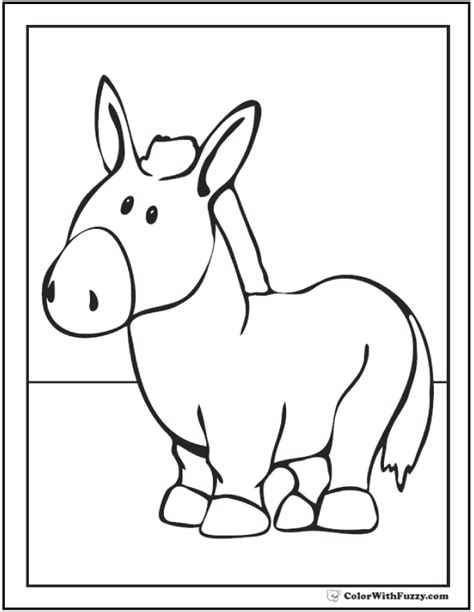 donkey coloring pages preschool donkey coloring pages preschool coloring pages