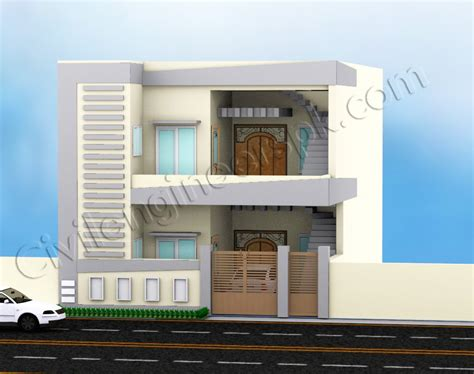 3d home design 5 marla 5 marla house design civil engineers pk