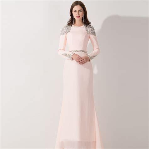 light pink long dress aliexpress com buy 2017 real photo elegant light pink