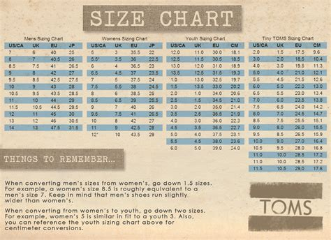 shoe size chart toms toms shoe size chart toms size guide baby toms shoes