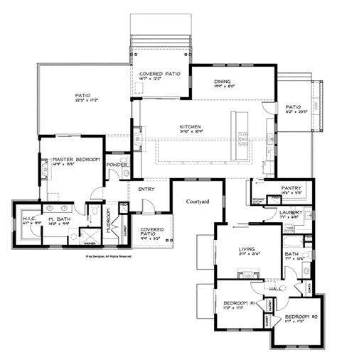 Contemporary Single Story House Plans by Small Modern One Story House Plans