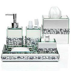 rhinestone bathroom accessories ricci vanity collection vanity set boutique box