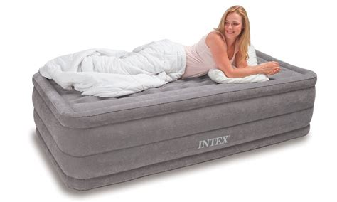 twin size air bed intex twin ultra plush air mattress