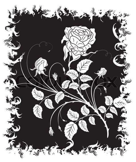 floral grunge frame elements royalty free vector image abstract grunge floral frame with element for design vector illustration stock vector