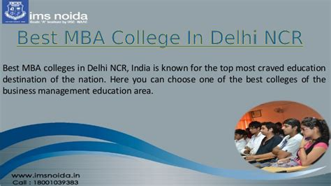 Best Mba Colleges In by Best Mba College In Delhi Ncr