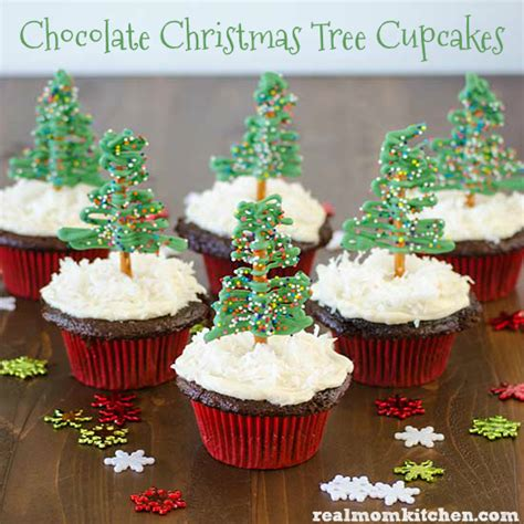 chocolate christmas tree cupcakes and 13 other cupcake