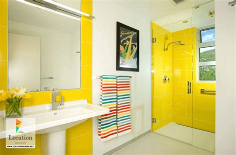 Modern Bathroom Yellow Gorgeous Bathrooms With The Warming Of Yellow Location