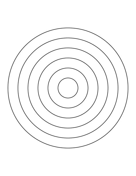 6 Concentric Circles Clipart Etc Concentric Circles Template