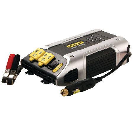 Usat Power Inverter 500 Watt Usb stanley 500 watt power inverter w ac outlets usb port qvc