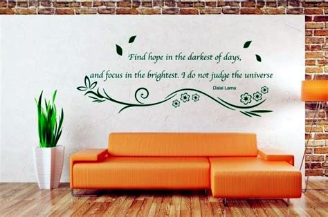 How To Decorate Your Livingroom cold wall custom sayings inside decals more individuality