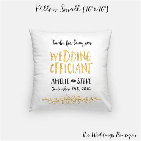 Wedding Officiant gift pillow customized wedding cushion