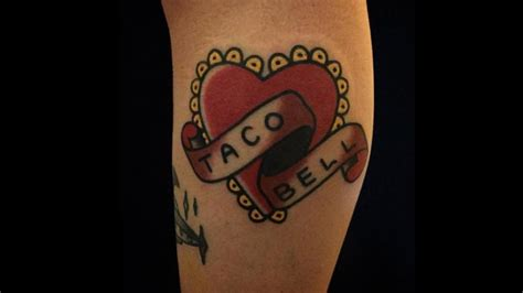 taco bell tattoo fast food tattoos that prove food is real