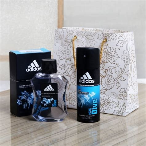 adidas ice dive edt deodorant spray set   giftsend fashion  lifestyle gifts