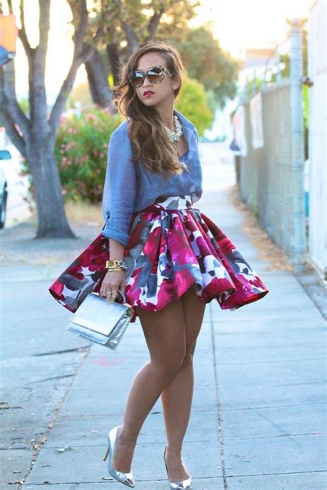 denim and floral 25 mini skirts for